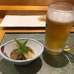 安兵衛寿し - 料理写真:お通し/帆立煮物、筍