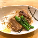 鉄なべや とん太 - 栗豚の角煮390円