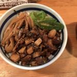 中華そば 閃 - 炙りチャーシューご飯