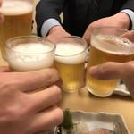 鮨・割烹 花絵巻 - カンパーイ♪