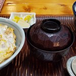 長命寺蕎麦 豊島 - 料理写真:親子丼とたぬきそば