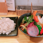スープカレー KIFUKU - ◆ハンバーグと16品目野菜のスープカレー 1,782円       ◆生チリ 1本 108円