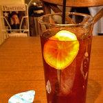 金星パスタ - ランチセットの飲み物。アイスティーにしました!