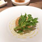 ボナ・フェスタ - タラバ蟹クリームコロッケ、あしたば揚げ添え