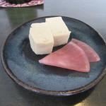 しらかめ - 料理写真:三点盛りより「豆富味噌漬け」