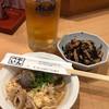 とんぺい - 料理写真:生ビール+つきだし2品