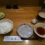 天味 - 天ぷら定食(天ぷらはこれから)