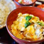 蕎麦 魯庵 - 親子丼+おそば (¥1,300)