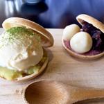 105697429 - 常陸の国のお芋とアイスのMOなKAと桜餡のMOなKA