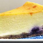 をかし東城 - ブルーベリーとホワイトチョコのチーズケーキ