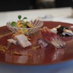 海鮮名菜 香宮 - 豚バラクリスピー焼き、チャーチュー