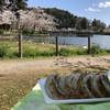 石崎ぎょうざ店 - 料理写真:近くの八鶴湖にて
