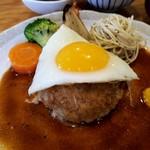 榎本よしひろ商店 - 料理写真:デミグラスソースのオリジナルハンバーグ