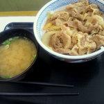 10571672 - 牛丼(並盛)+みそ汁