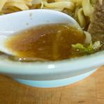 ラーメン髭 - スープです。