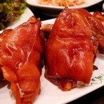 周王山 - 豚足 冷製なんですね〜 味付は美味しいのでこのまま蒸して食べたい あ、炊き込みご飯かおじやにしたらいいかも。