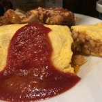 美味卵家 - オムライス+唐揚げ