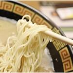 一蘭 - 低加水麺。