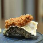 kitchen俊貴 - 2019年4月再訪:島根県産 岩牡蠣 春香 牡蠣フライ☆