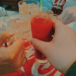 105732163 - 僕の1杯目は火を噴く辛トマト酎(税別500円)。楽しみにしていました!喉に割と来る「激辛」のお酒。蒙古タンメン中本基準なら、6か7辛かな。