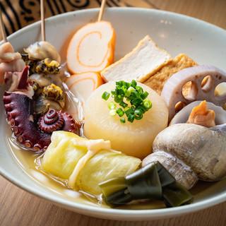魚介類の旨味がたっぷり染み出た「金沢おでん」がおすすめ◎