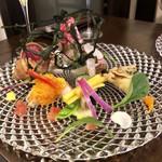 フォース - 立体的な前菜盛り合わせ
