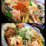 """魚啓 - """"海鮮丼、おまかせ丼"""""""