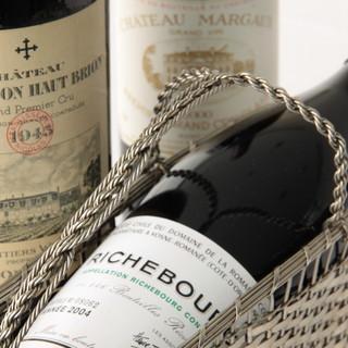 ワイン通も納得の、充実のワインセラー