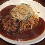 105741541 - ハンバーグ 麺増量