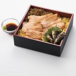 魚太郎・蔵のまちCafe - 炙りサーモンの箱寿司