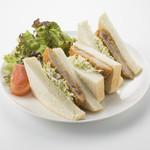 魚太郎・蔵のまちCafe - 手仕込み!三河豚ロースのカツサンドウィッチ