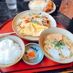 そば家 鶴小 - 料理写真:野菜チャンプルーソバセット