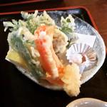 手打ちそば処 麓 - 野菜天ぷら