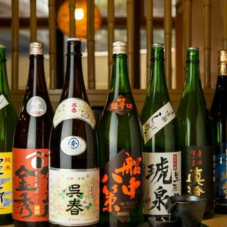 常時24種類♪季節の地酒も揃います