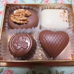 マダム ドリュック - 選んだ4種類のチョコレート