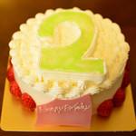 オーボナクイユ - 料理写真:オーダーケーキ