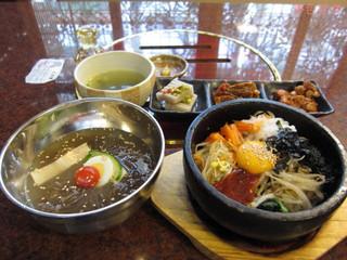 麻布 韓日館 - 「選べる定食」(石焼ビビンバと冷麺)