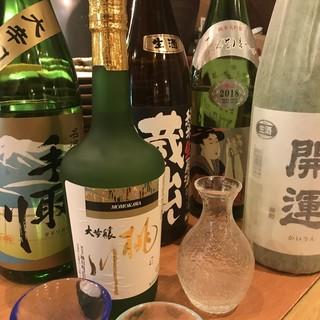 旨い日本酒、焼酎がずらり♪