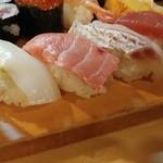 魚がし寿司 - にぎりの図