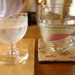105770294 - 日本酒グラス&和らぎ水