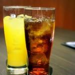 105774495 - オレンジジュースとウーロン茶
