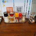 麺屋 から草 - 卓上の調味料(2019年4月15日)