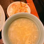 105779209 - スープとお新香