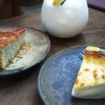 デデカフェ - デデチーズケーキ。スペイシーオレンジケーキ。
