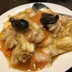 味香苑 - 海老と白菜のピリ辛炒め