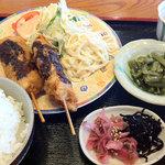しろくま - 本日の日替わりは串かつ定食(680円)
