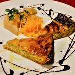 レストラン ボンジョリーナ - 玉ネギのキッシュ