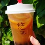 悠茶 - スーパーフルーツティーMサイズ タピオカトッピング¥648