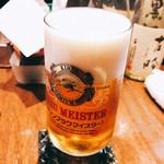 Wasshoidokorowaku - 生ビール
