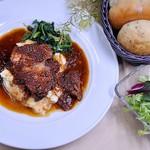 豚肩ロースのバルサミコ煮とマッシュポテト